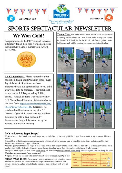 Sports Newsletter Number 23