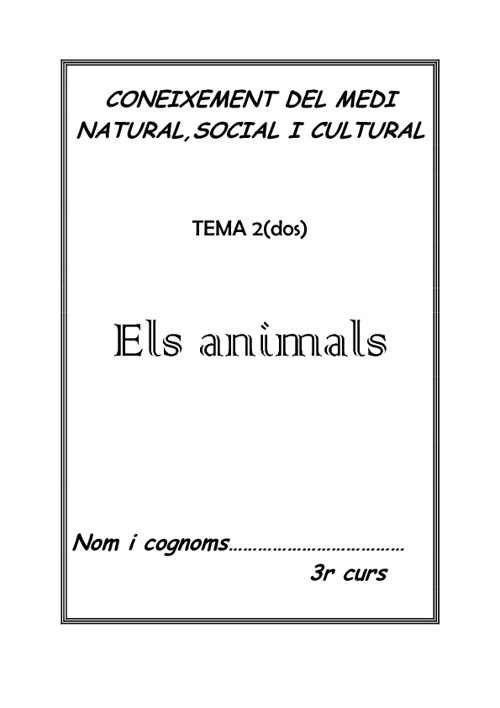 els animalets