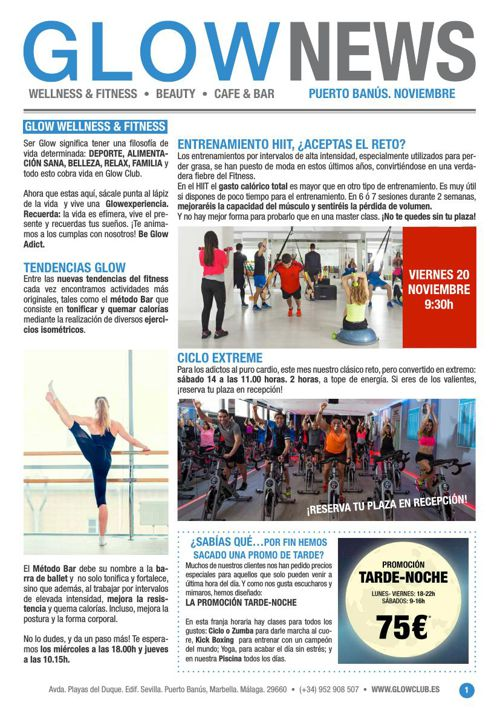 Revista Glow Marbella 1/11 al 30/11