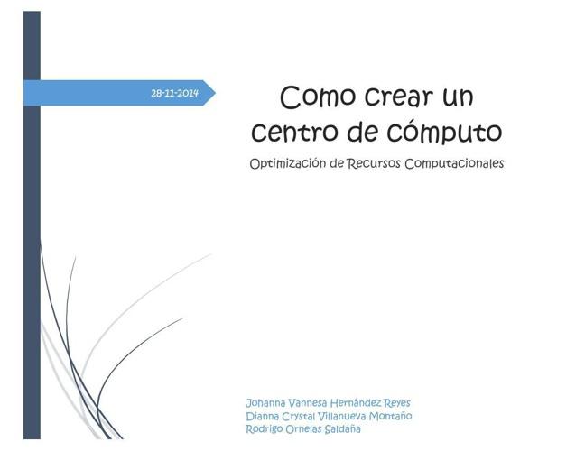 Guía Como Crear Un centro de Computo