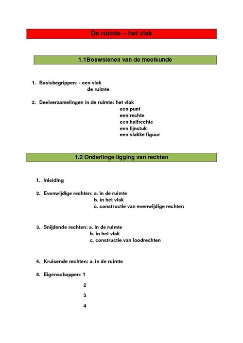 Meetkunde - deel 1