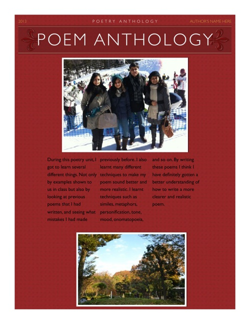Poem anthology