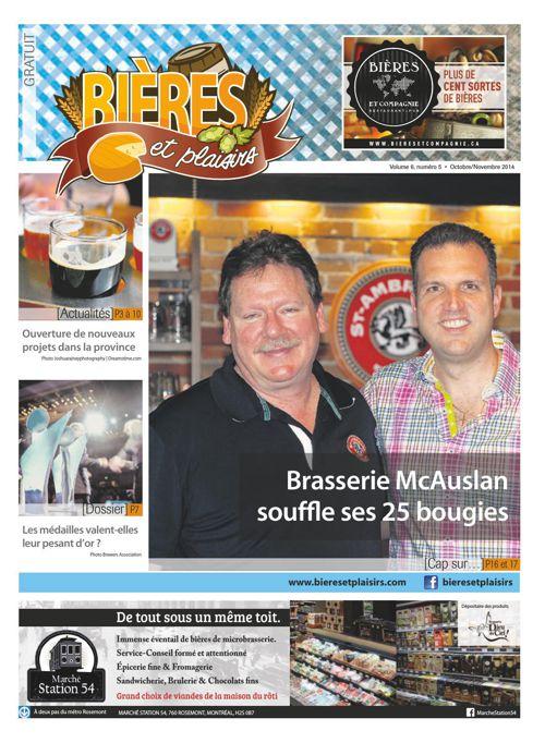 Bières et Plaisirs Volume 6 Numéro 5 - Octobre 2014