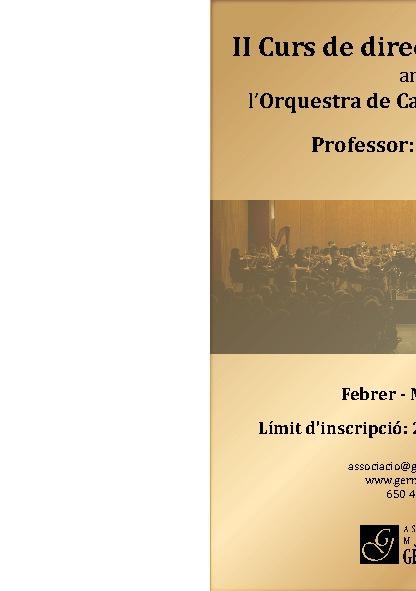II Curs de Direcció Orquestral amb l'Orquestra Gèrminans