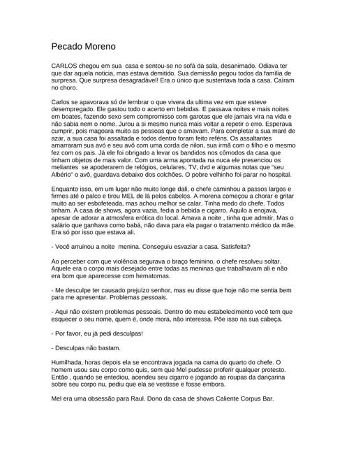 PECADO MORENO - Lauri