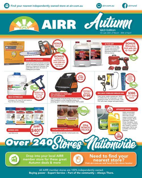 AIRR Autumn Catalogue 2018 QLD