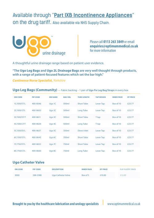 Ugo tariff