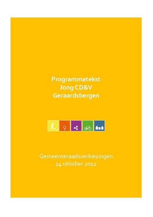 Programma 2012 - Jong CD&V Geraardsbergen