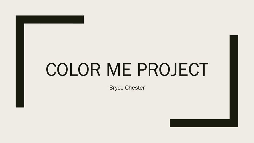 Color me project 22