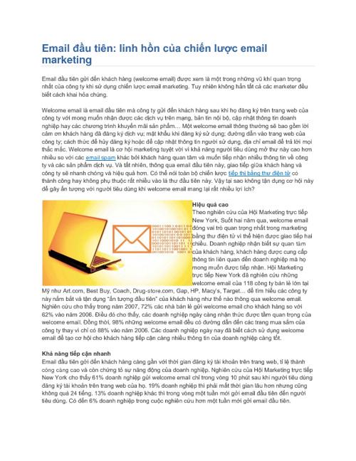 Email đầu tiên-Linh hồn của chiến lược email marketing