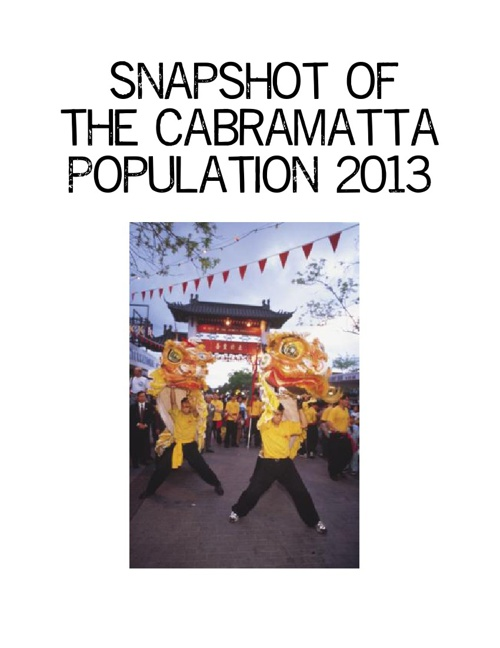 Snapshot of the Cabramatta Population 2013