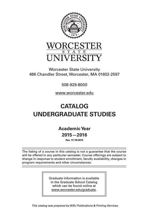 WSU Undergrad Catalog 2015-16