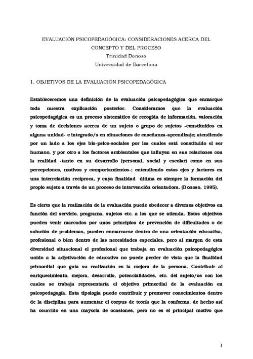 Antología Evaluación Psicopedagógica