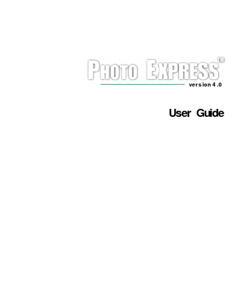 Ulead Photo Express 4.0  handleiding