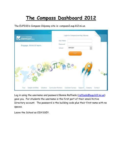 Compass Odyssey How-Tos 2012