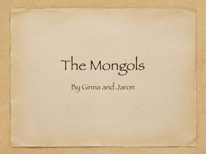 Mongol Presentation(1)