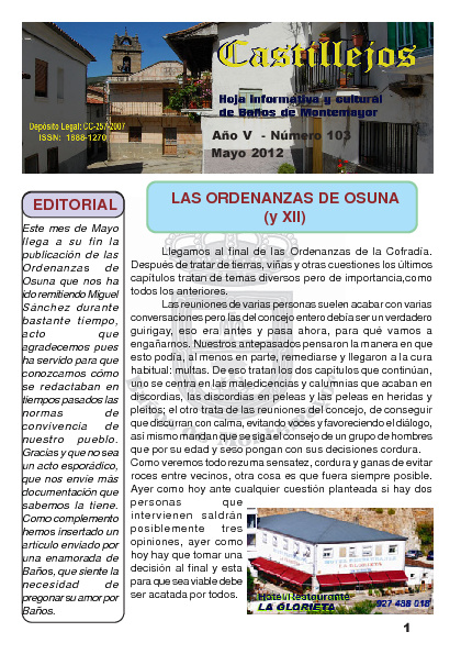 Revista Castillejos - Mayo 2012