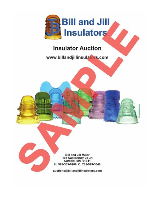 Bill and Jill Insulators Sample Auction Catalog