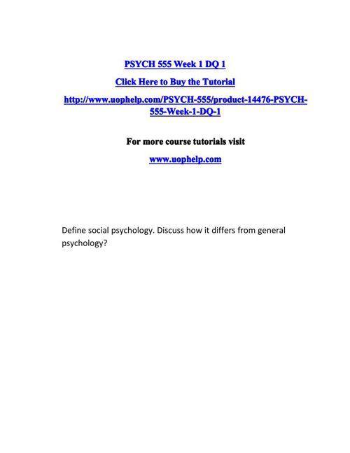 PSYCH 555 ACADEMIC COACH / UOPHELP