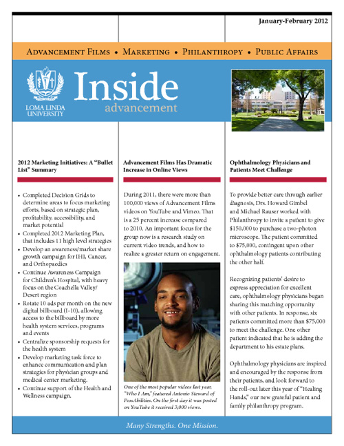 Inside Advancement 2012 No.1