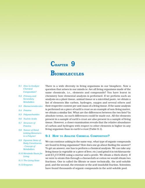 Ch 9. Biomolecules