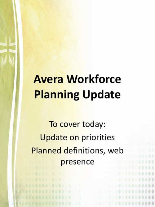 Workforce Planning Vision & Strategy