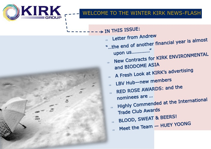 KIRK NEWS-FLASH - WINTER 2013