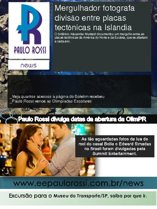 Paulo Rossi News | Edição 003 | Mergulhador nada nas placas tect