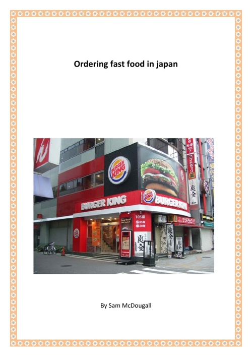 Ordering fast food in japan
