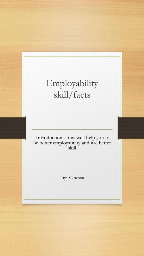 employability skill by Vanessa