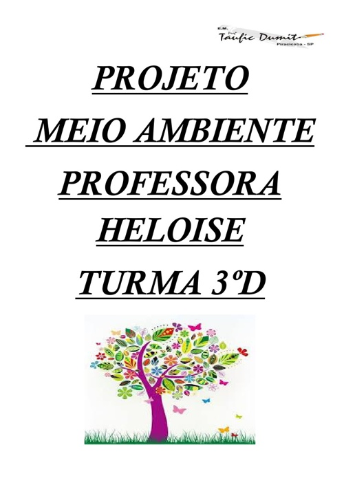 Projeto Meio Ambiente 3ºD