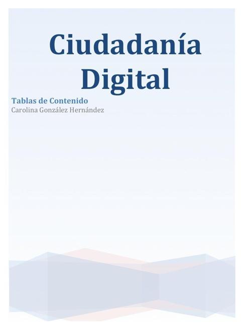 Ciudadanía Digital Carolina Gonzalez