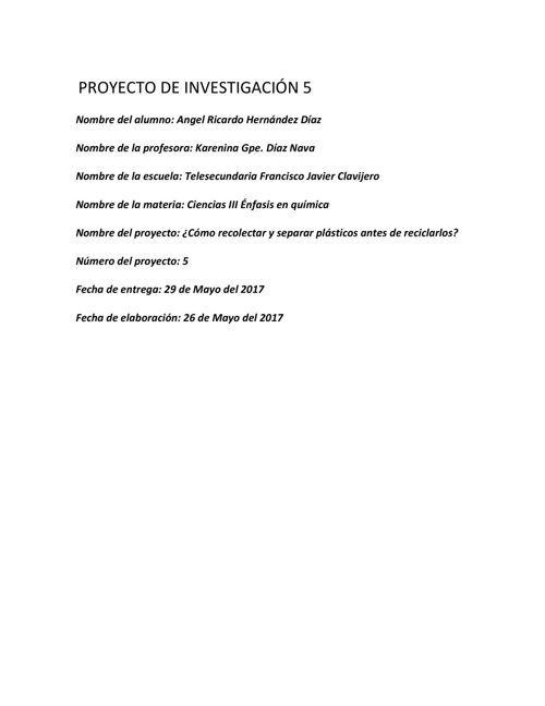 PROYECTO DE INVESTIGACIÓN 5