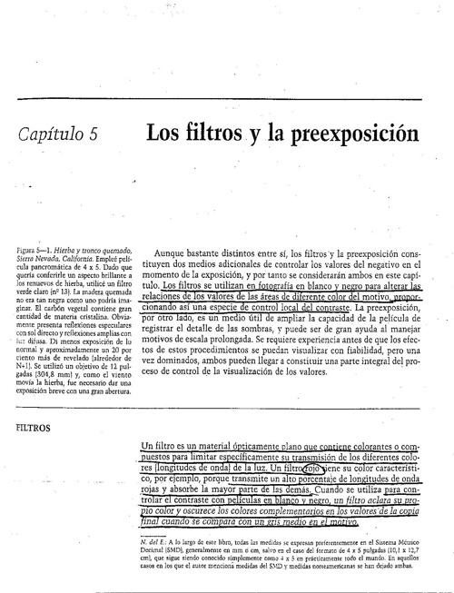 Capitulo 5 - Los Filtros y la preexposici´ón - >>Parte 1/2
