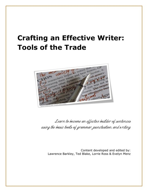 Crafting an Effective Writer: Tools of the Trade