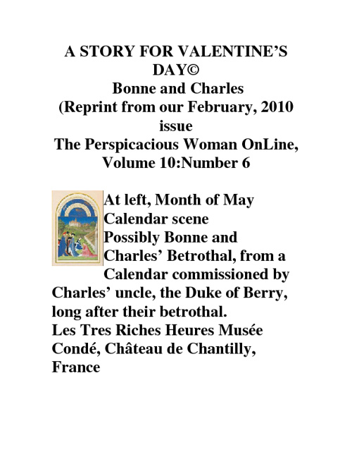 A STORY FOR VALENTINE'S DAY (C)  Bonne and Charles