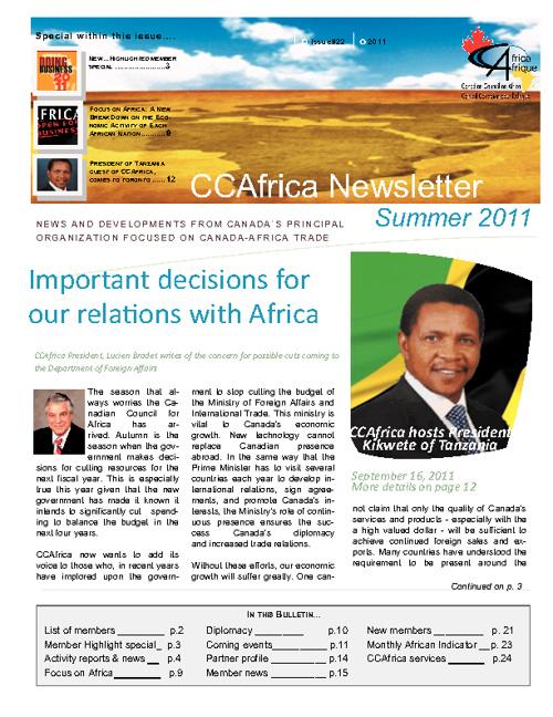 CCAfrica Newsletter Stand