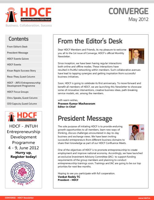 HDCF News Letter