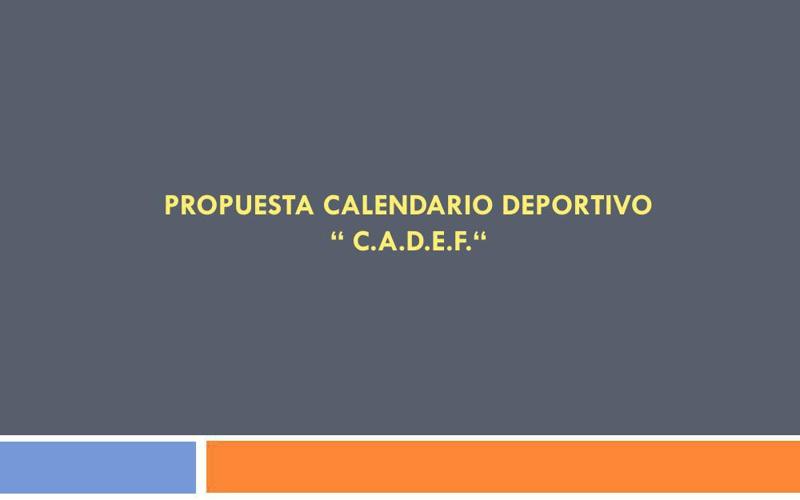 PROPUESTA CALENDARIO DEPORTIVO F1