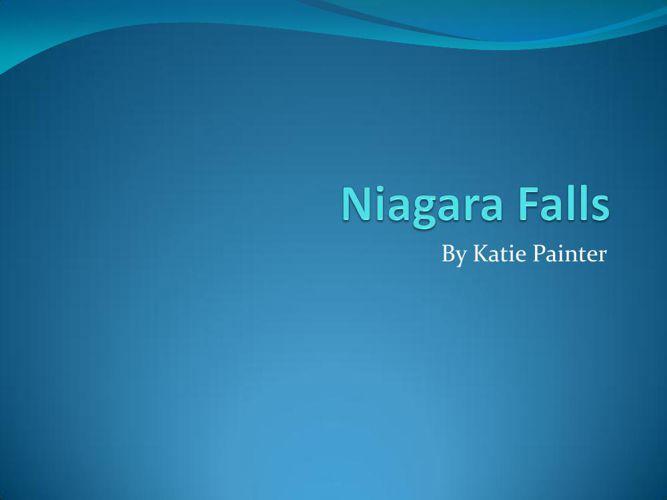 Niagara Falls flipbook project
