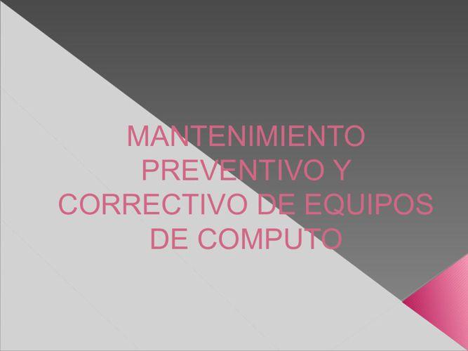 mantenimiento preventivo y correctivo del pc PDF