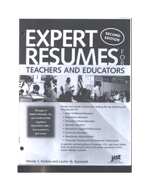 Expert Resumes: Teachers & Educators