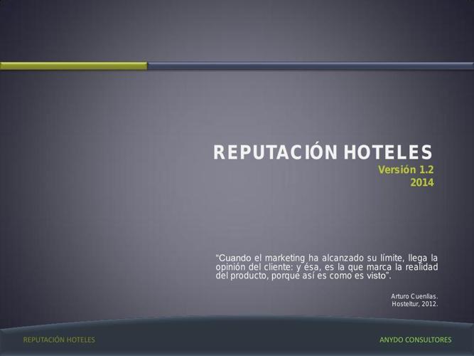 Reputación Hoteles V1.2014