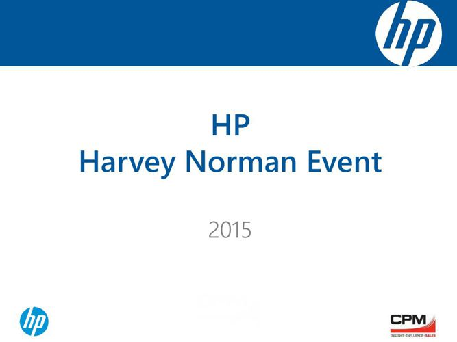 HP - Harvey Norman Event - 2015