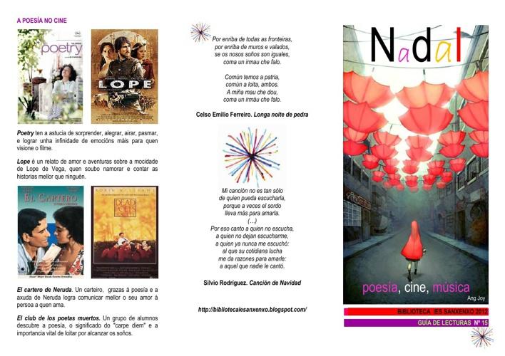 Guía poesía, música e cine. Nadal 2012. Biblioteca IES SANXENXO