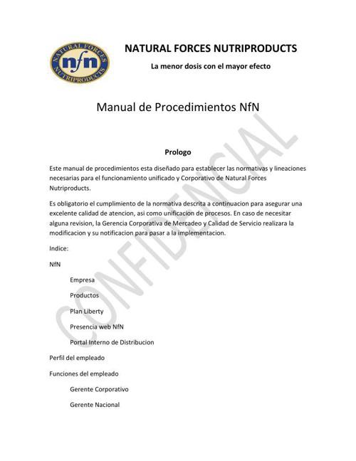 manual de procedimientos 2014