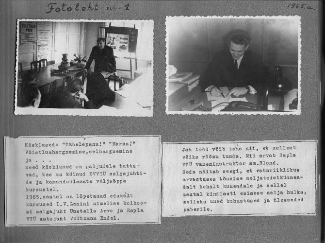 Rapla VTÜ kroonika-album 1965