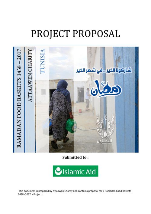 RAMADAN FOOD BASKETS 1438 – 2017 Proposal - Isalmic Aid