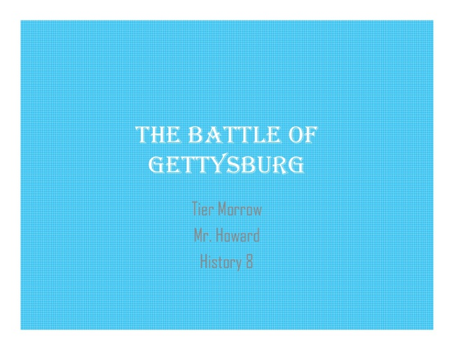actual gettysburg [Read-Only]