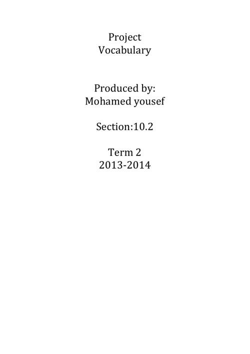 Project vocabulary_mohamed-ekhnaib10.2